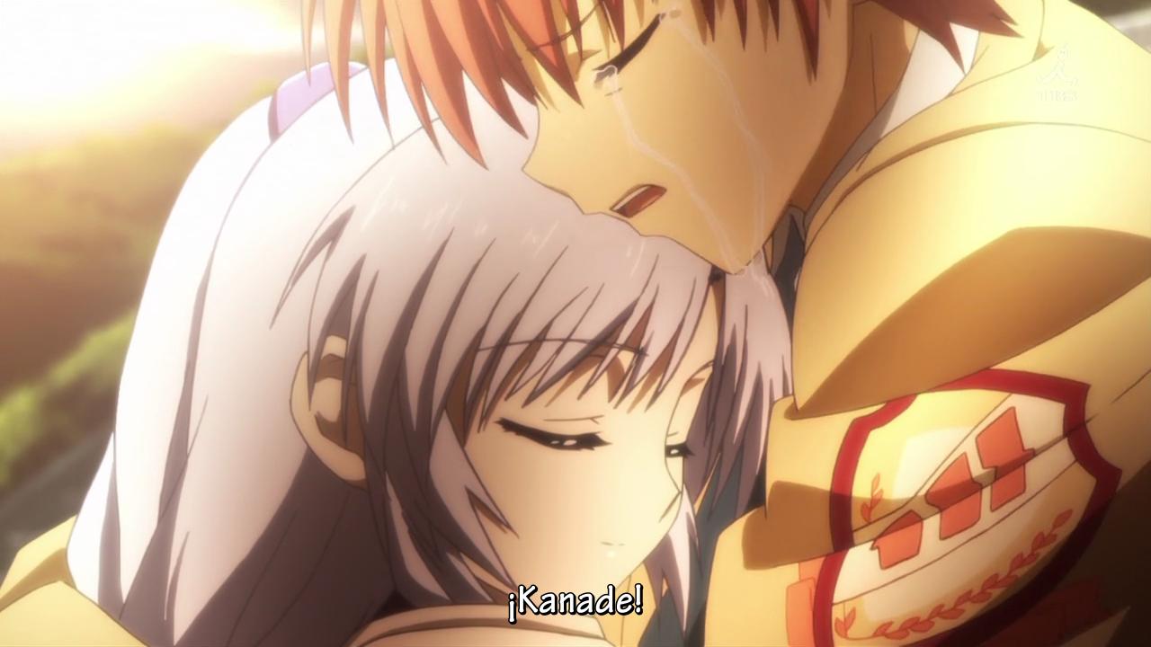 ¿Animes que te hallan echo llorar? Angelbeats133-4